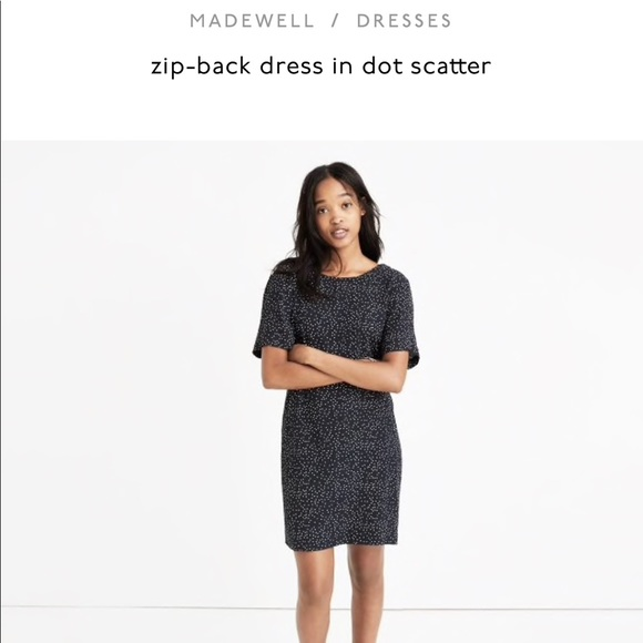 Madewell Dresses & Skirts - NWT • Madewell • Zip-Back Dress in Dot Scatter